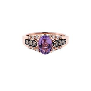Levian Amethyst Ring in Rose Gold.